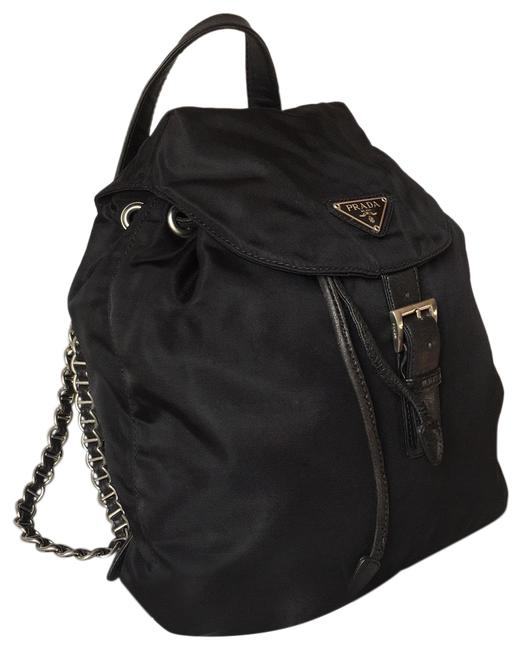 Item - Small Black Silver Nylon Backpack