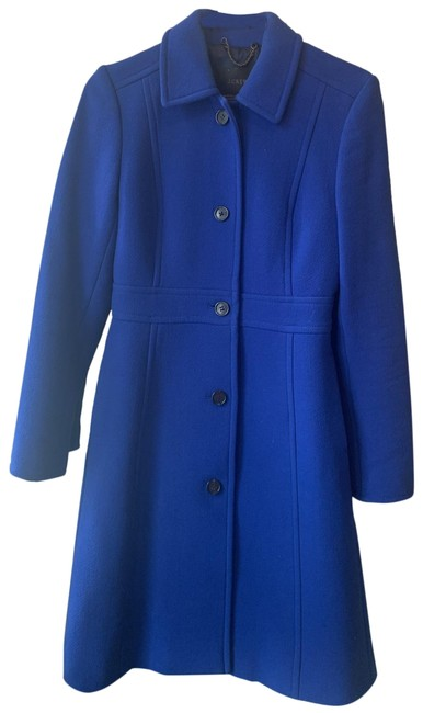 Item - Royal Blue Classic Day Italian Double Cloth Wool with Thinsulate Coat Size 0 (XS)