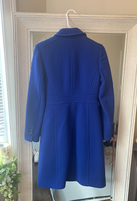 J.Crew Royal Blue Classic Day Italian Double Cloth Wool with Thinsulate Coat Size 0 (XS) J.Crew Royal Blue Classic Day Italian Double Cloth Wool with Thinsulate Coat Size 0 (XS) Image 2