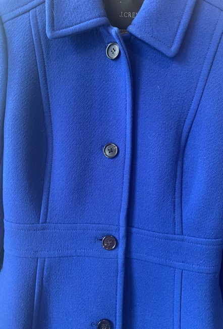 J.Crew Royal Blue Classic Day Italian Double Cloth Wool with Thinsulate Coat Size 0 (XS) J.Crew Royal Blue Classic Day Italian Double Cloth Wool with Thinsulate Coat Size 0 (XS) Image 4