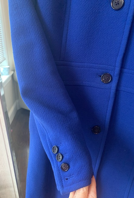 J.Crew Royal Blue Classic Day Italian Double Cloth Wool with Thinsulate Coat Size 0 (XS) J.Crew Royal Blue Classic Day Italian Double Cloth Wool with Thinsulate Coat Size 0 (XS) Image 5