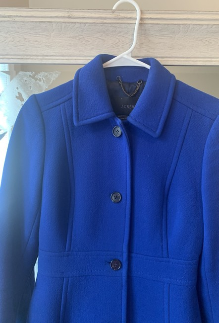 J.Crew Royal Blue Classic Day Italian Double Cloth Wool with Thinsulate Coat Size 0 (XS) J.Crew Royal Blue Classic Day Italian Double Cloth Wool with Thinsulate Coat Size 0 (XS) Image 7