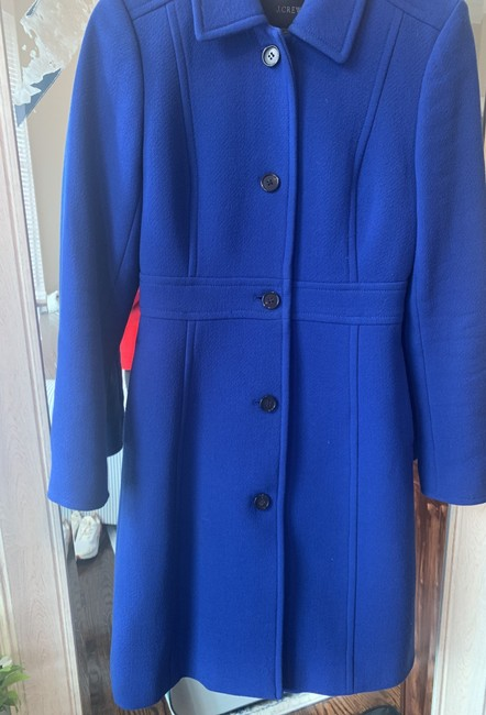 J.Crew Royal Blue Classic Day Italian Double Cloth Wool with Thinsulate Coat Size 0 (XS) J.Crew Royal Blue Classic Day Italian Double Cloth Wool with Thinsulate Coat Size 0 (XS) Image 8