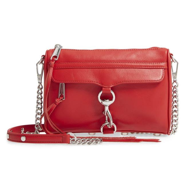 Item - Clutch Tomato Mini Mac Convertible Red Leather Cross Body Bag