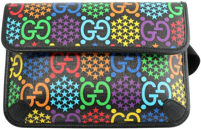 Item - Belt Psychedelic Multicolor Leather and Gg Leather Weekend/Travel Bag