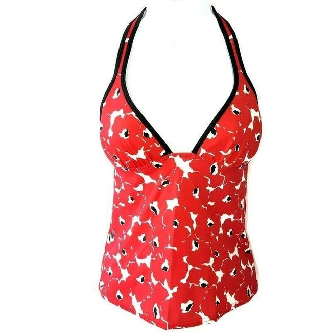 Item - Red XS Swimsuit Floral Halter Top Push Up Tankini Size 2 (XS)