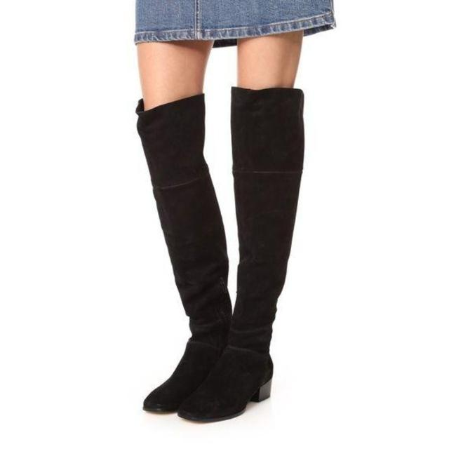 Item - Black Over The Knee Boots/Booties Size US 7 Regular (M, B)