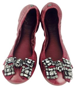 Tory Burch Burgundy Flats