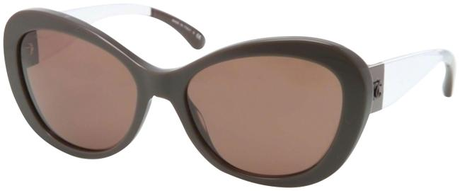 Item - Brown and Clear Ch 5264 C.1276/S9 57mm Oversized Polarized Sunglasses