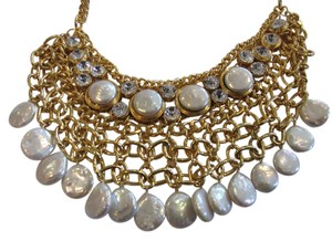 Other DEVON LEIGH AUTHENTIC NWT PEARL DROP BIB NECKLACE