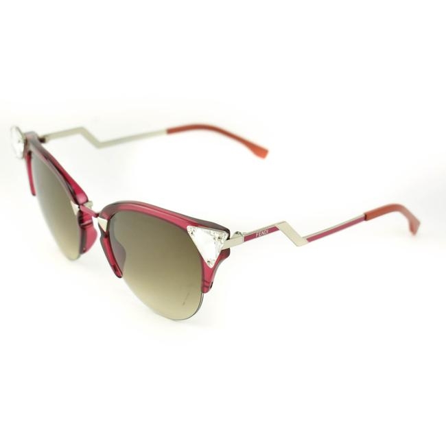 """Item - Red/Silver """"Crystals"""" & Logo Cat-eye (Nm) Sunglasses"""