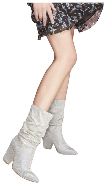 Item - Silver Boots/Booties Size US 5 Regular (M, B)