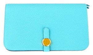 Hermès Hermes Dogon Duo Wallet in Blue Atoll Togo