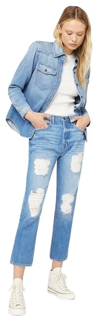 Item - Blue Distressed Heritage Bellflower Rips Relaxed Fit Jeans Size 27 (4, S)
