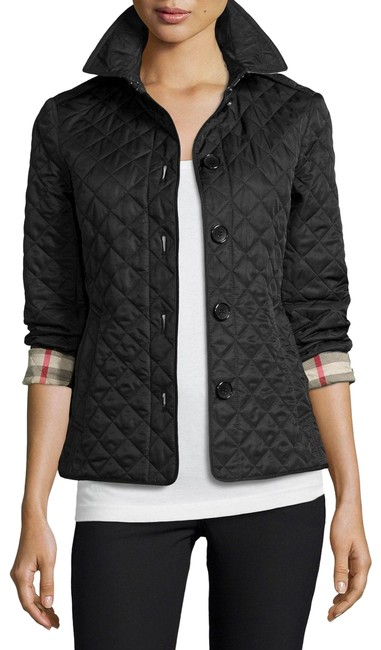 Item - Black Ashurst Quilted Check Jacket Size 4 (S)