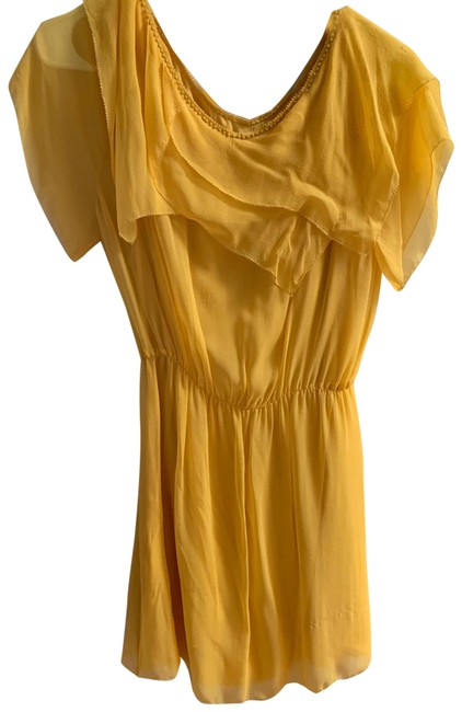 Item - Yellow 114776 Short Casual Dress Size 6 (S)