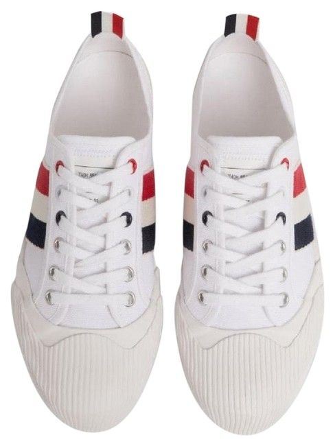Item - White Rwb-stripe Low-top Sneakers Size EU 38 (Approx. US 8) Regular (M, B)