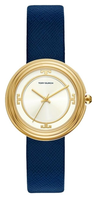 Item - Navy/Gold Tbw6101 Bailey Three-hand Leather 34mm Watch