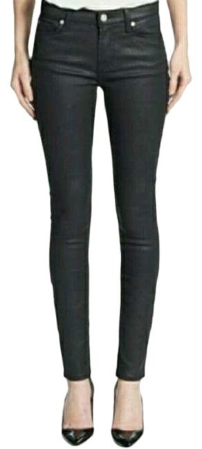 Item - Black Coated Gwenevere Skinny Jeans Size 0 (XS, 25)