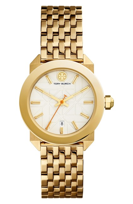Item - Gold Tbw8000 Whitney Gold-tone Stainless Steel/Ivory 28 Mm Watch