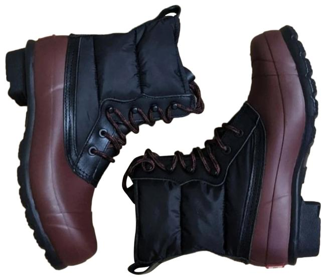 Item - Black/Brown Short Quilted Lace Up Boots/Booties Size US 6 Regular (M, B)