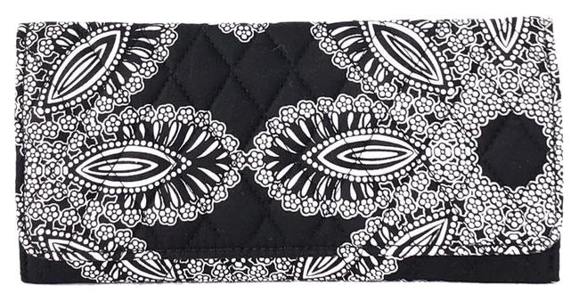 Item - Black/White Quilted Fabric Trifold Wallet
