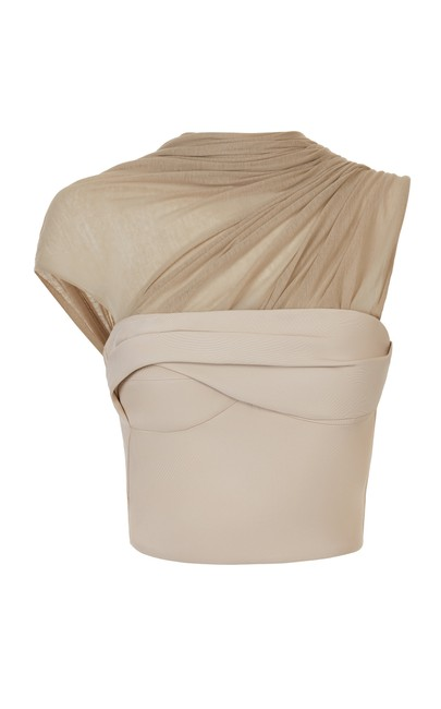Item - 2us Mentalist Bustier with Tee Latte/Neutral Top