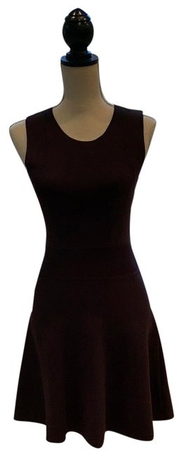 Item - Burgundy / Wine Dominay Ventura Knit Mid-length Work/Office Dress Size 4 (S)