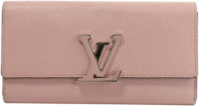 Item - Pink Capucines Taurillon Leather Wallet