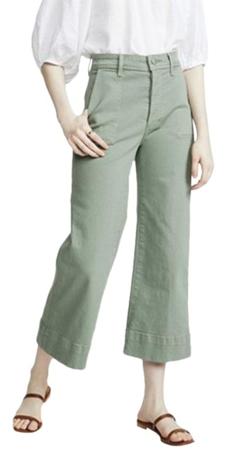 Item - Green High Rise Trouser/Wide Leg Jeans Size 29 (6, M)