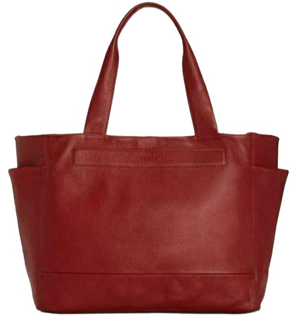 Item - Stanton Reversible Leather Large Red Nylon Tote