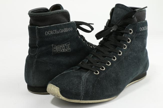 Item - Blue Suede Leather High Top Sneakers Shoes