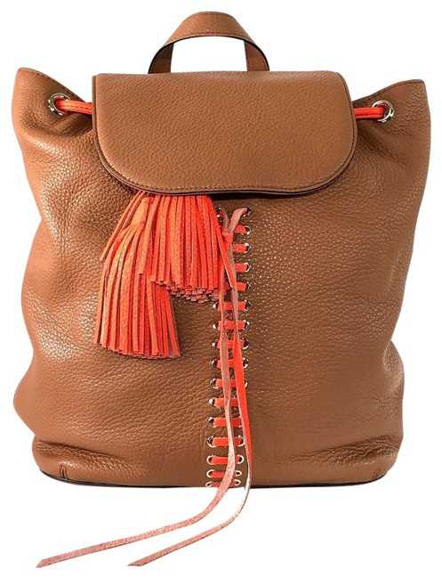 Item - Moto Almond/Red Leather Backpack