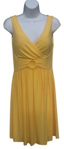 Boston Proper short dress Yellow on Tradesy
