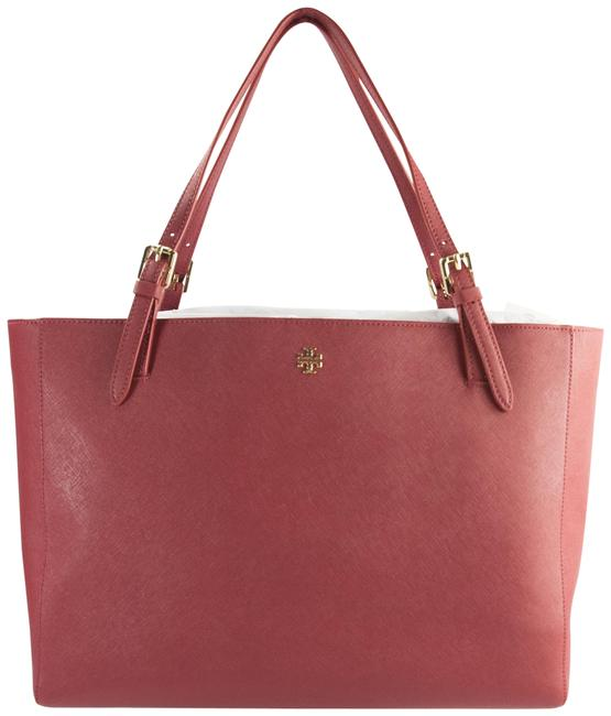 Item - Robinson York Buckle Defect Red Leather Tote