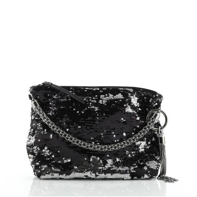 Item - Callie Black Silver Sequins Clutch