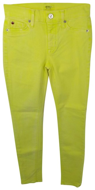 Hudson Yellow Nico Mid Rise Ankle Super Denim Sample In Luminous Skinny Jeans Size 25 (2, XS) Hudson Yellow Nico Mid Rise Ankle Super Denim Sample In Luminous Skinny Jeans Size 25 (2, XS) Image 1