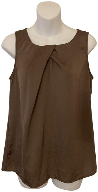 Item - Taupe/Brown Sleeveless Blouse Size 4 (S)