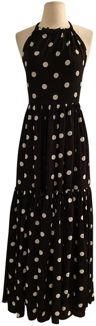 Item - Black Ivory Halter-neck Tiered In Dot. Color: Long Casual Maxi Dress Size 0 (XS)