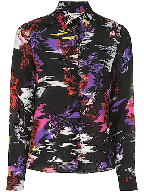 Item - Multi with Tag Willa Silk Shirt Button-down Top Size Petite 4 (S)