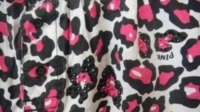Victoria's Secret Shorts Pink/Black Leopard Print