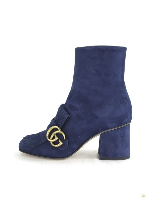 Item - Blue Marmont Suede Gg Fringe #31221 Boots/Booties Size EU 35.5 (Approx. US 5.5) Regular (M, B)