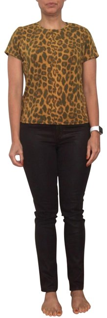 Item - Brown (Java) Coated Ca No. 19371 Skinny Jeans Size 6 (S, 28)