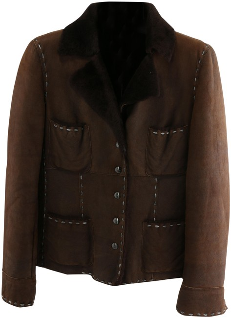 Item - Brown With Accent Stitching Jacket Size 8 (M)