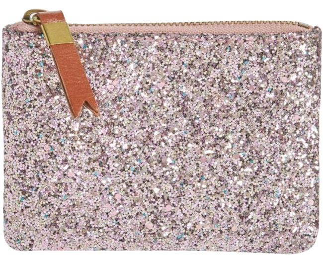 Item - Pink The Leather Pouch Wallet