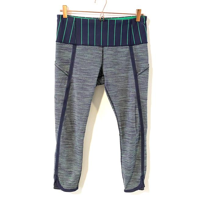 Item - Green Blue Can't Stop Crop Wee Are From Space Bean/Slalom Stripe Inkwell/Inkwell Activewear Bottoms Size 6 (S)