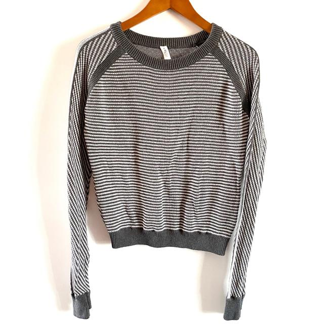 Item - Cotton Devi Crew Long Sleeve Size 4 Gray White Sweater