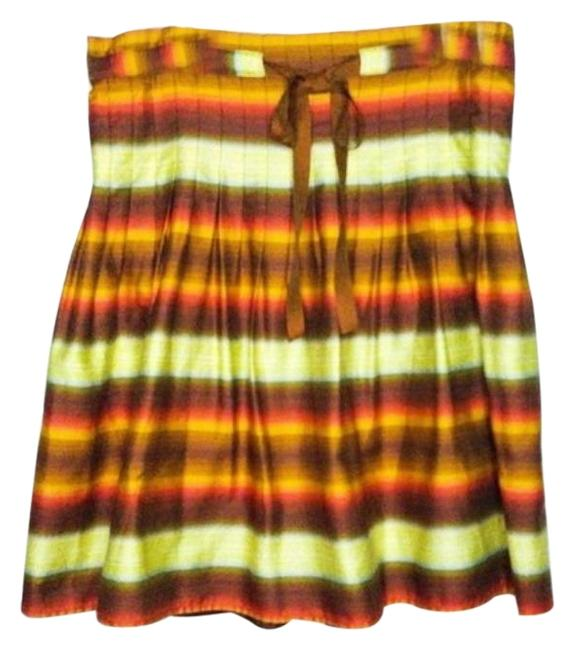 Item - Orange Brown XS Bcbg Silk Waist Above Knee Skirt Size 2 (XS, 26)