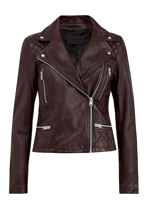 Item - Brown with Tag Cargo Leather Biker Jacket Size 6 (S)