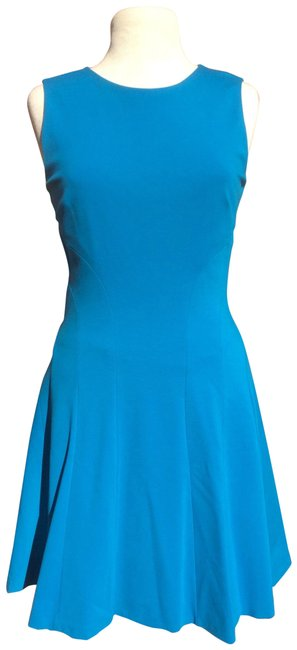 Item - Turquoise Scoop Neckline Sheath Mid-length Work/Office Dress Size 6 (S)